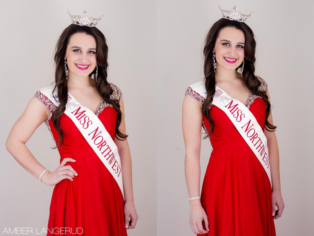 Sarah Labine Miss Northwest 2015 | Headshots by Amber Langerud Photography out of Audubon, MN