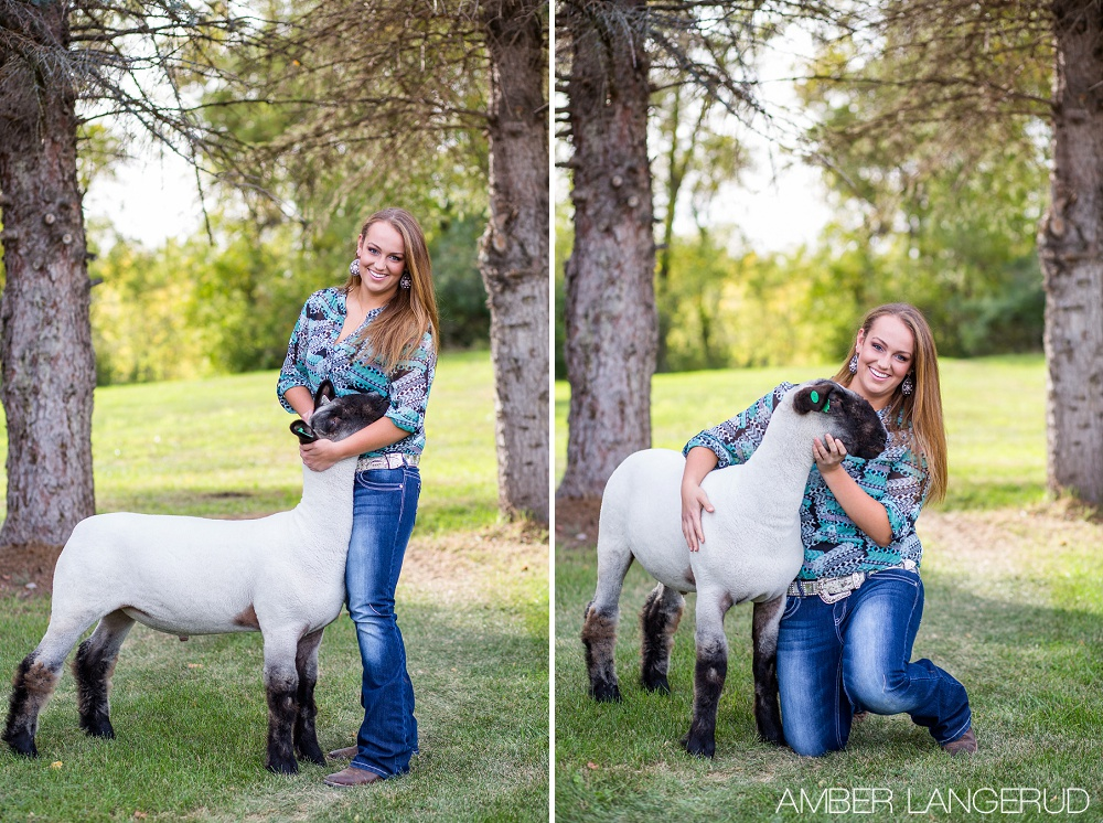 Senior Pictures with a Sheep | Audubon, MN