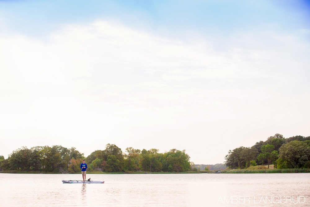 Senior Pictures on Little Cormorant Lakes, MN