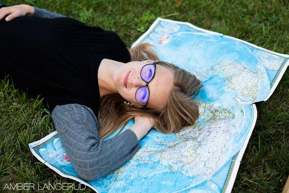 Travel Styled Senior Pictures | Frazee, MN High School Senior Pictures