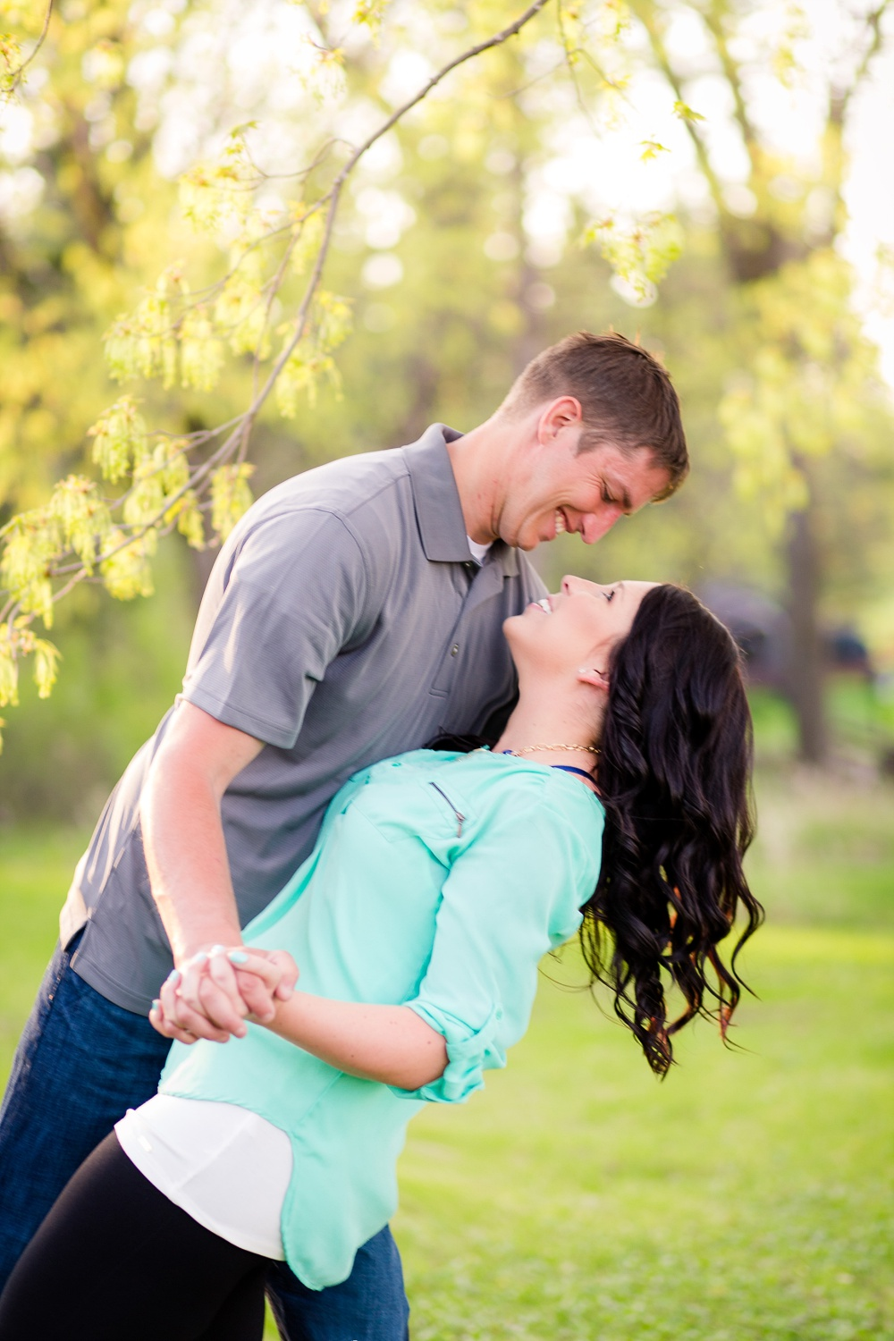 Romantic, Spring, Outdoor Engagement Session | Amber Langerud Photography