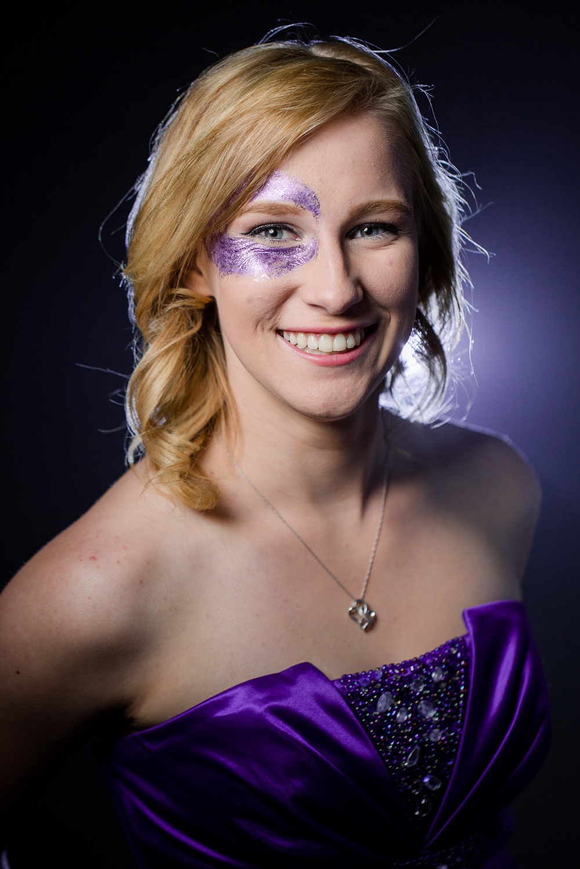 Glitter, Purple, Fog Indoor Studio Photo Session | Amber Langerud Photography