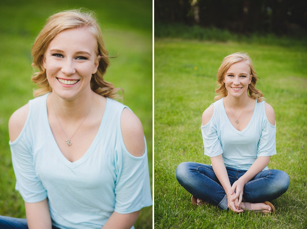Outdoor, Country Styled, Spring Senior Session | Amber Langerud Photography