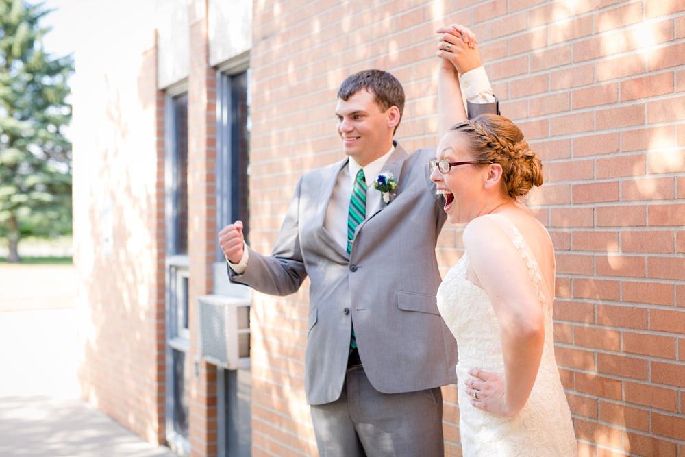 Moorhead, MN wedding | Photos at River Oaks Park | Ceremony at First Presbyterian Church | Amber Langerud PhotographyMoorhead, MN wedding | Photos at River Oaks Park | Ceremony at First Presbyterian Church | Amber Langerud Photography