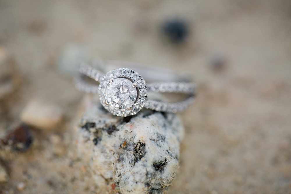 Engagement Ring | Outdoor, country styled engagement session near Audubon, MN | Amer Langerud Photography