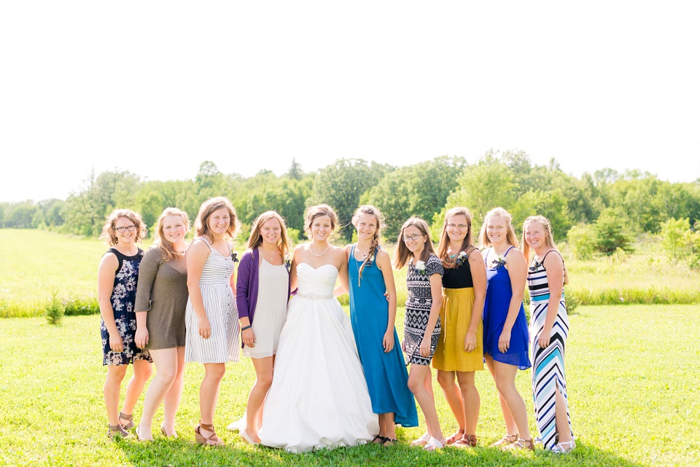 Wolf Lake, MN Country Styled Wedding, White Dress, Blue Suite | Photographed by Amber Langerud Photography