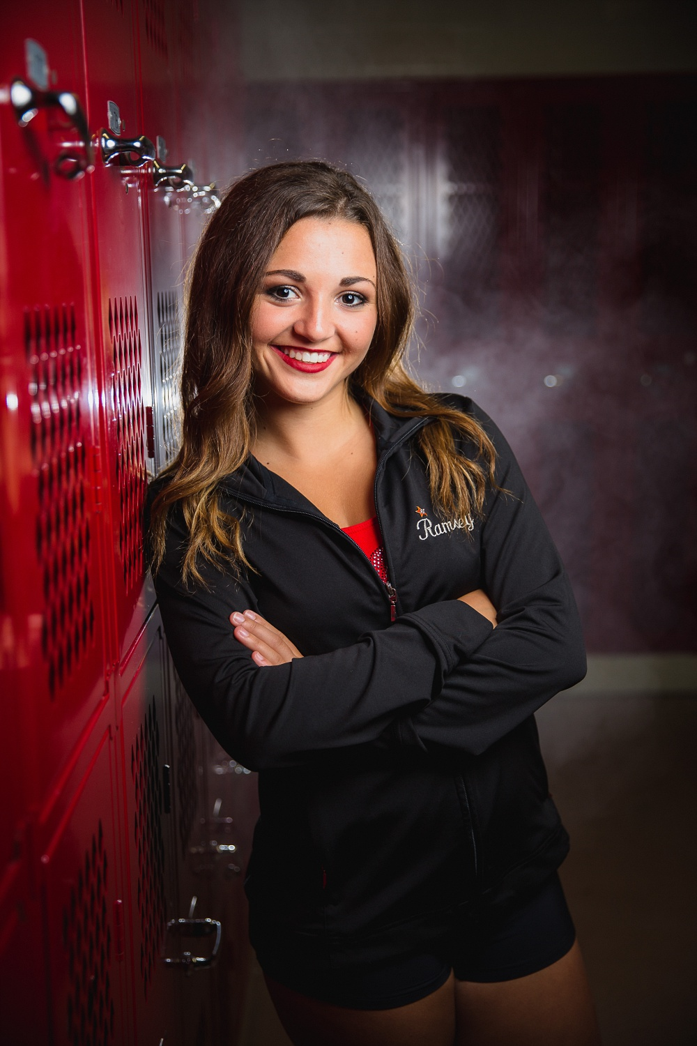 Dance Styled High School Senior Portraits in Detroit Lakes, MN | Photographed by Amber Langerud Photography | Dancer in Locker Room