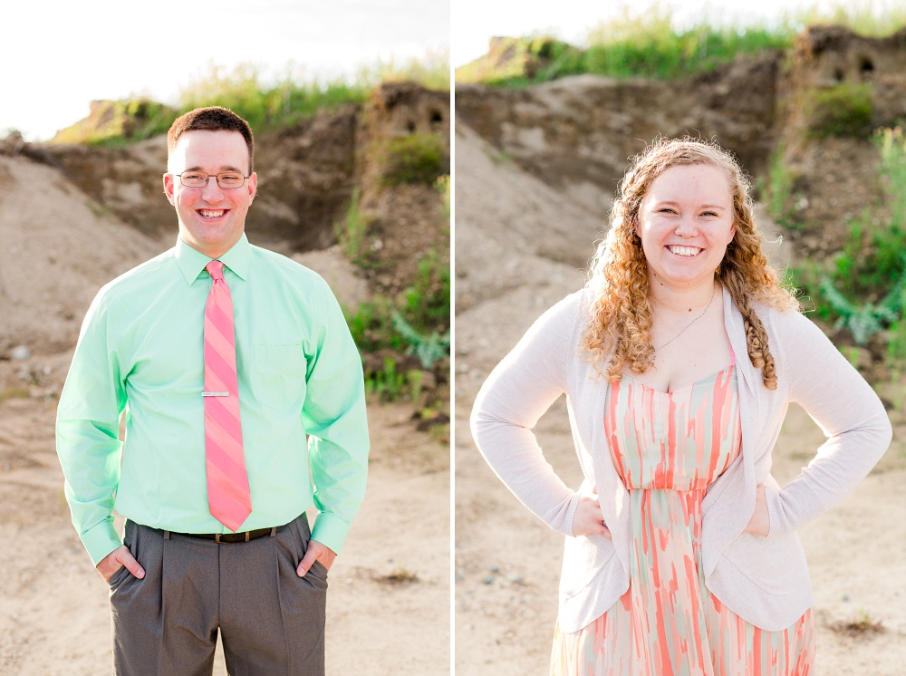 Minnesota Country Styled Engagement Pictures by Amber Langerud Photography | Individual headshots of the couple