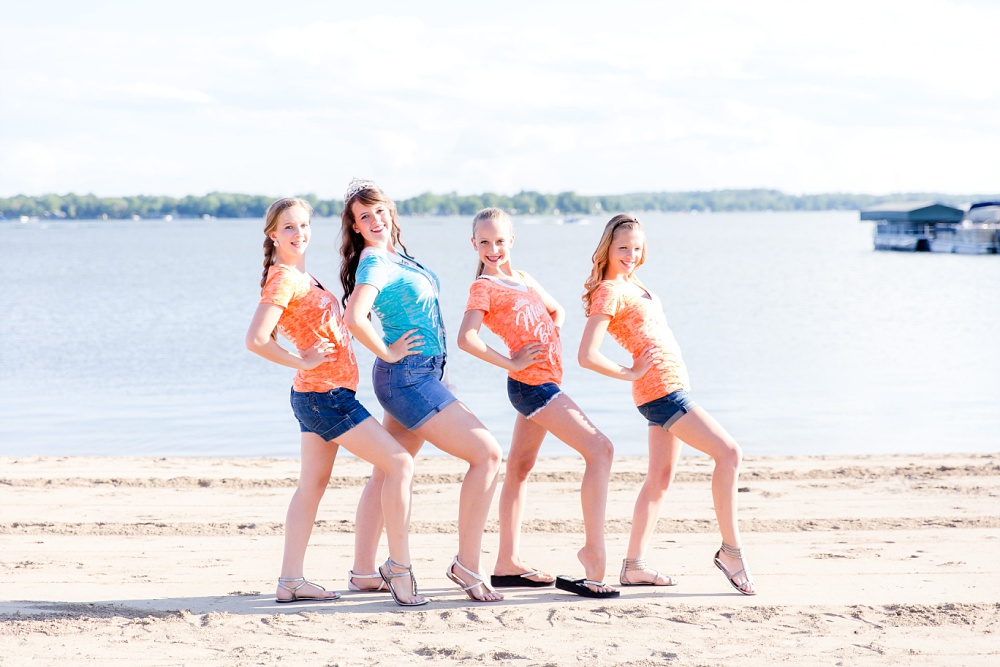Miss Becker County 2016 pre pageant photos | Jr Miss Contestants having fun at the beach