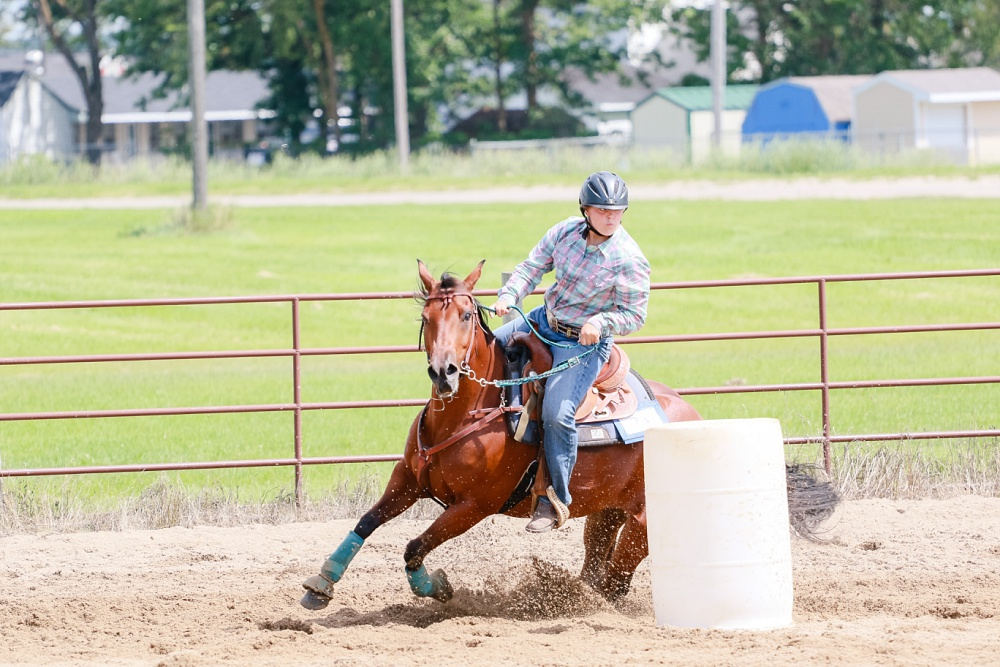 2016 Becker County 4-H Horse Show in Detroit Lakes, MN | Barrels