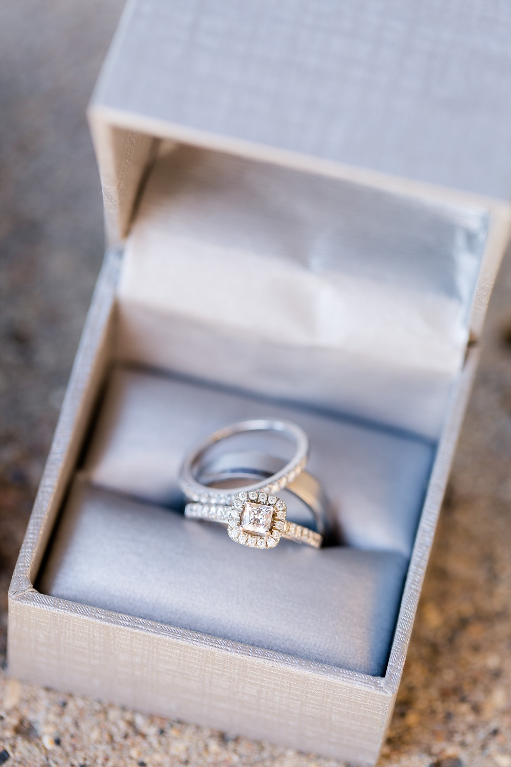 Detroit Lakes, MN Country Styled Wedding at Trinity Lutheran Church & Holmes Ballroom Photographed by Amber Langerud Photography | Wedding rings in box