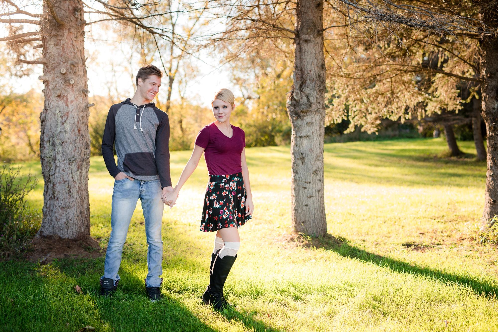 Country Styled Couple's Portraits near Audubon, MN | Maggie & Zak