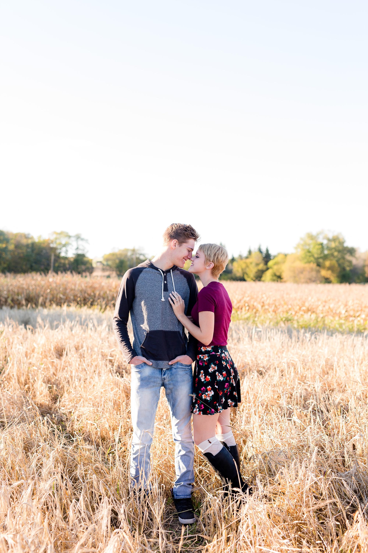 Fall Country Styled Couple's Portraits near Audubon, MN | Maggie & Zak