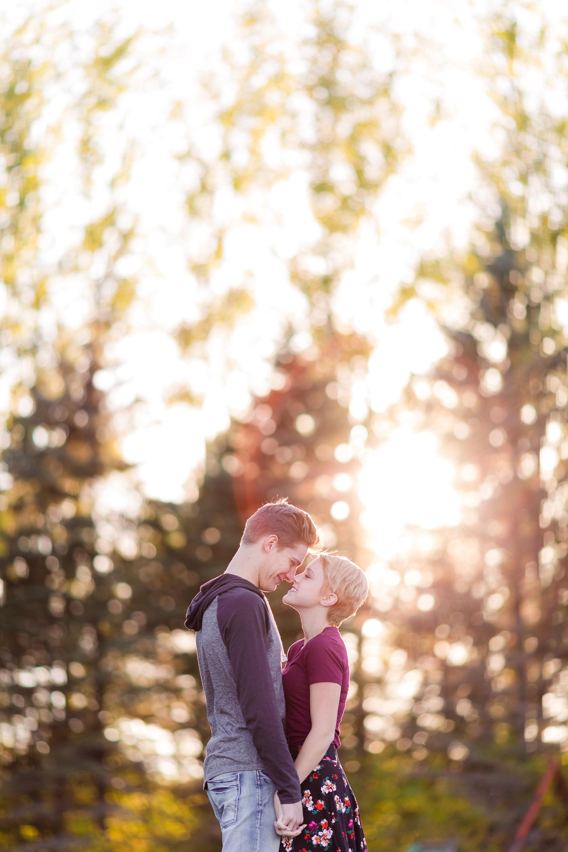 Fall, Country Styled Couple's Portraits near Audubon, MN | Maggie & Zak by Amber Langerud Photography