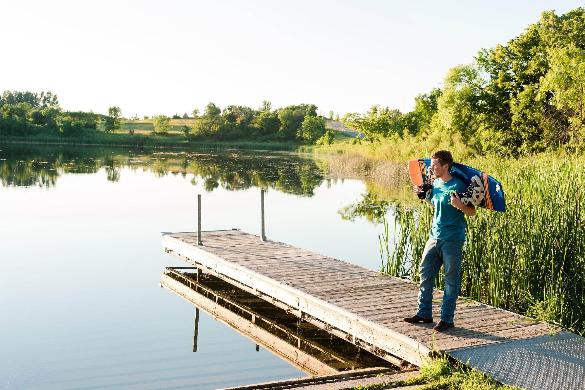 Country Styled Guy Senior Session on Little Cormorant Lake, Minnesota   Elijah