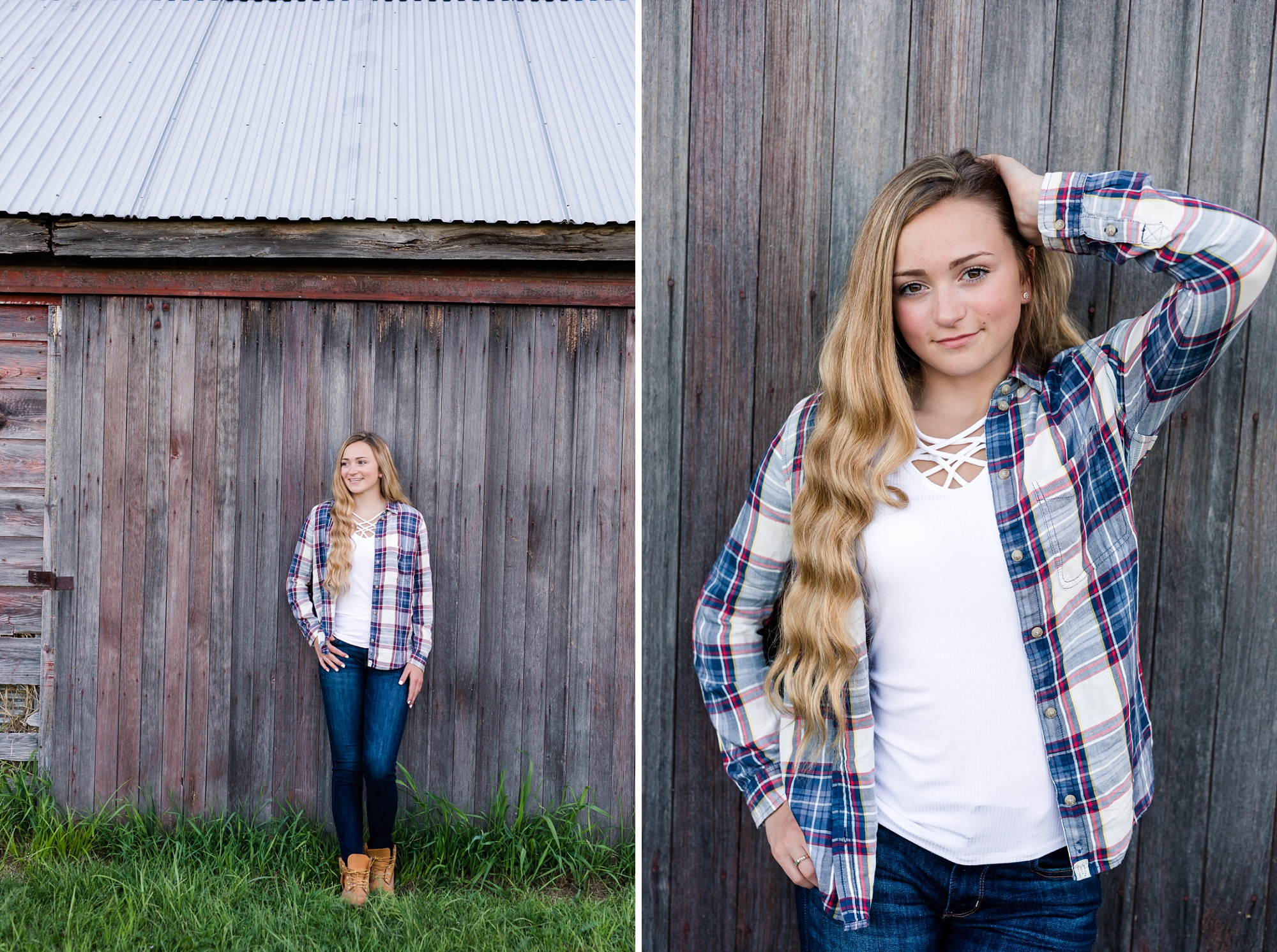 Country Styled High School Senior Pictures on a Farm and Little Cormorant Lake in Minnesota by Amber Langerud with Rustic Barn Wood