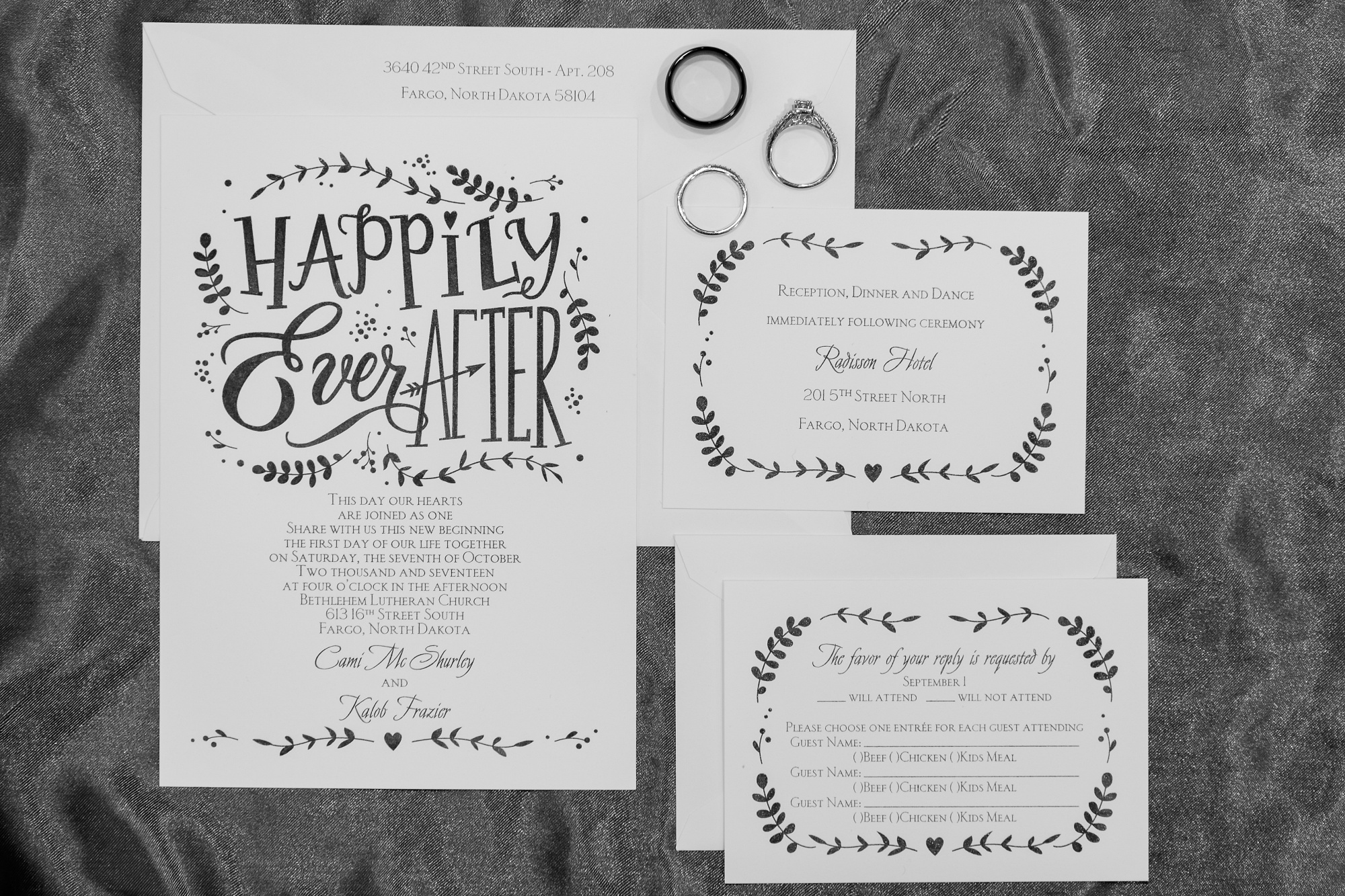Downtown Fargo Disney Themed Wedding by Amber Langerud Photography | wedding invites