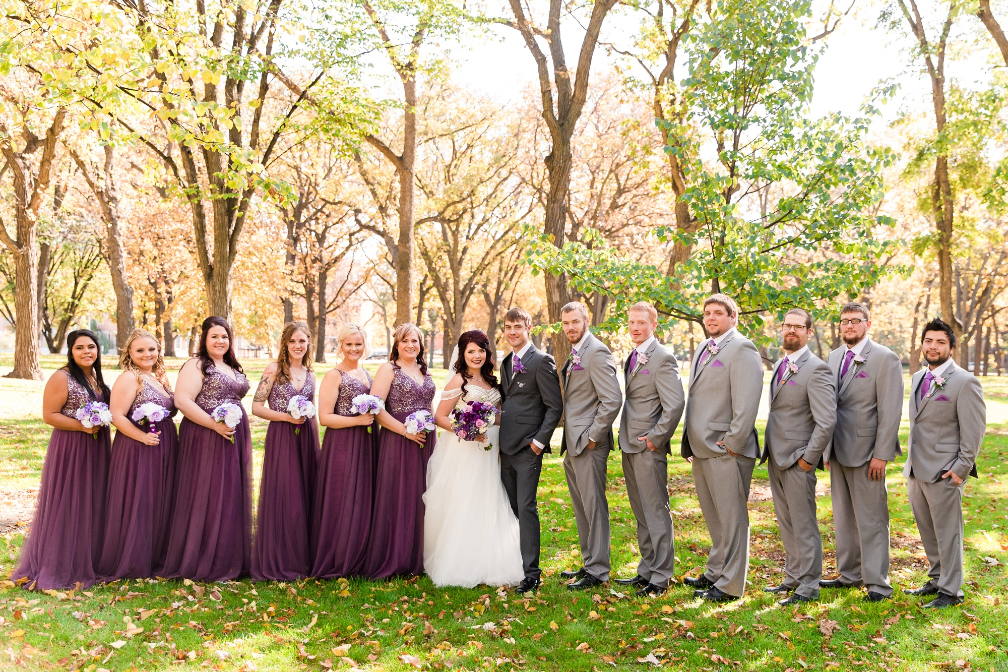 Downtown Fargo Disney Themed Wedding by Amber Langerud Photography | Bridal Party Island Park