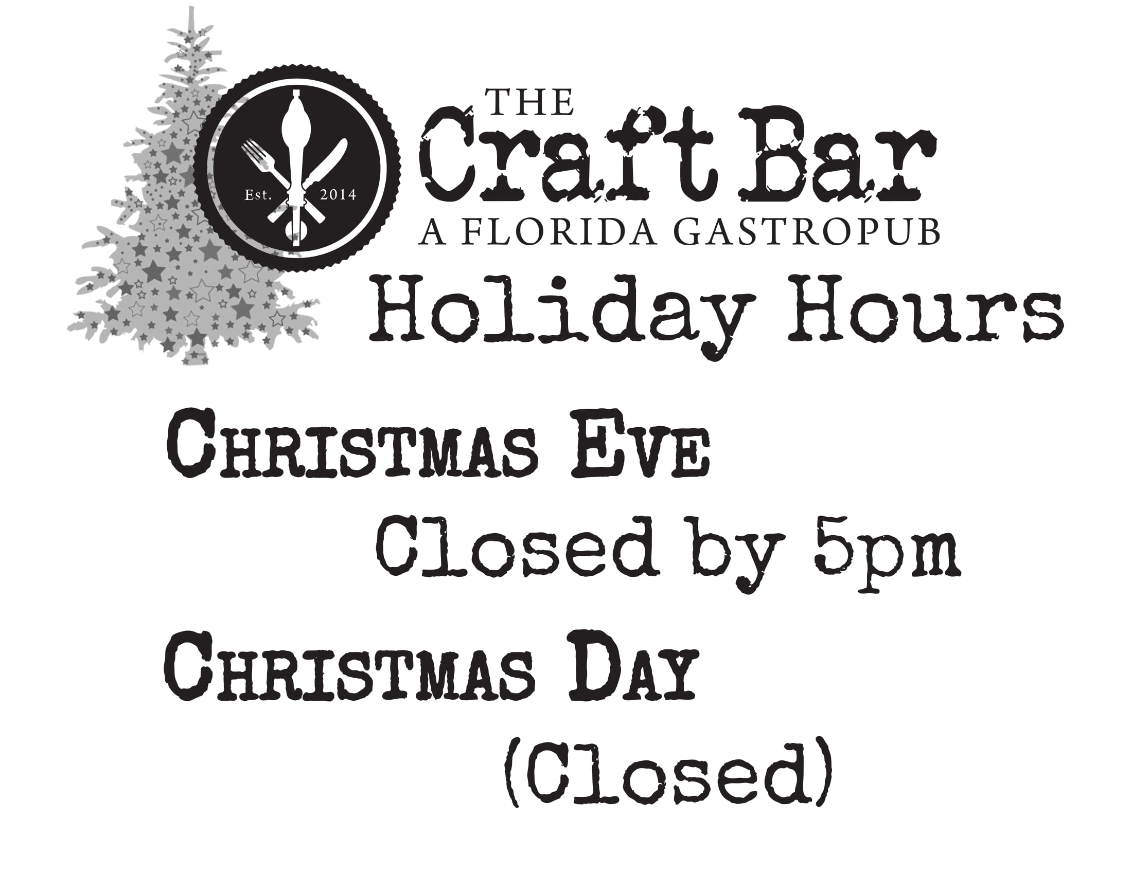 Craft Bar 2018 Holiday Hours-1.jpg