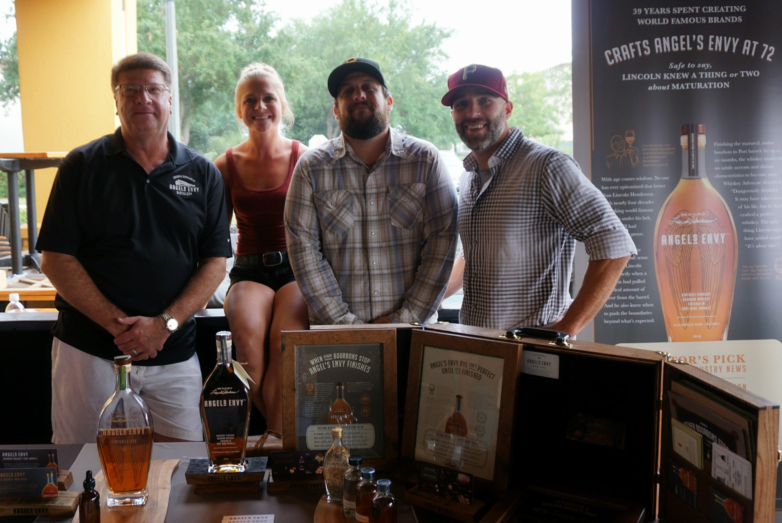Some of the team hangin with Wes Henderson of Angel's Envy!
