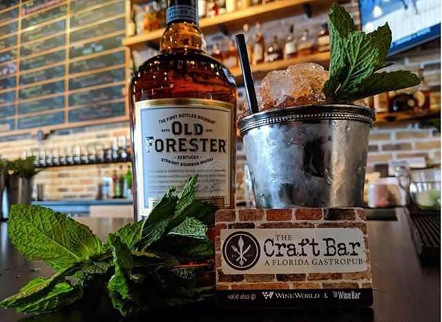 Servin up @oldforester Mint Juleps for $8 in or Fort Walton location #derbyday #kentuckyderby #mintjulep #drinkstagram #thecraftbarfl