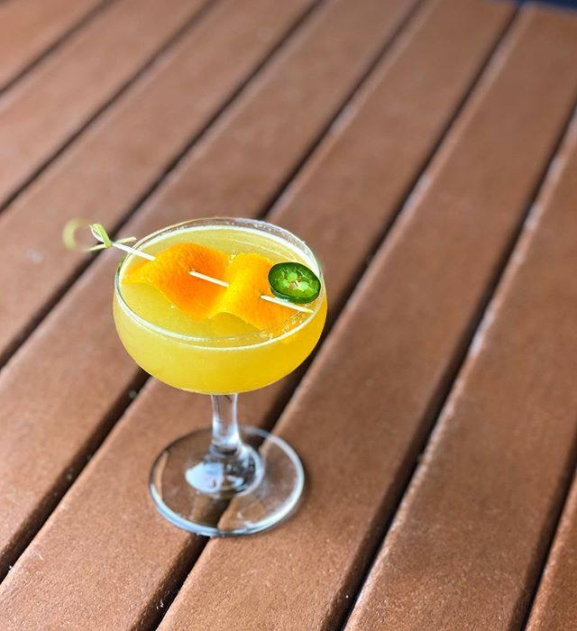 It's citrusy, it's spicy, and it's officially on the menu in @grandboulevard 🍊The Fighting Thai-rish cocktail was so popular as a special in March, we put it on the Seasonal menu all summer!🌶 #getitwhileitshot #cocktailsofinstagram #drinkstagram #spicycocktail #yum #whiskeygram