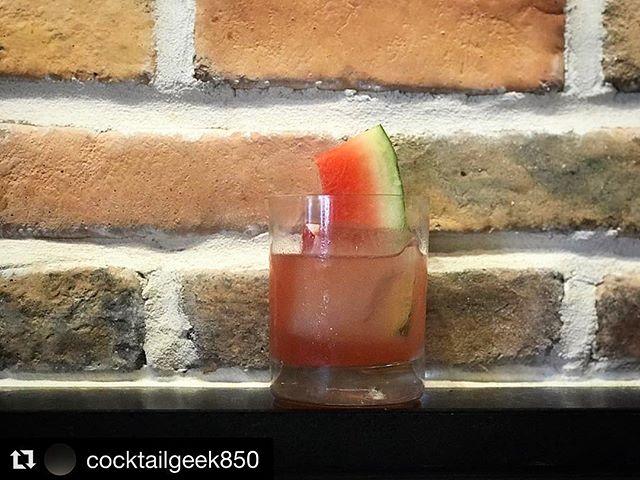 Corey doin his thing out in FWB! 🍹🤩 #cocktailgeek850 #cocktailsofinstagram #drinkstagram #summerdrinks #fortwaltonbeach #uptownstation #watermelon #mixology #thecraftbarfl #Repost 📸 : @cocktailgeek850