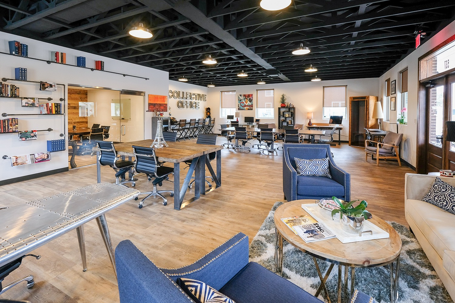 Collective Membership$225 / Month - The ultimate in flexibility.Enjoy unlimited access to our shared tables, sitting & standing desks,private phone booths and lounges plus six hours per month of conference room reservations*. Membership also includes business mailing address.Plus one time $100 initiation fee