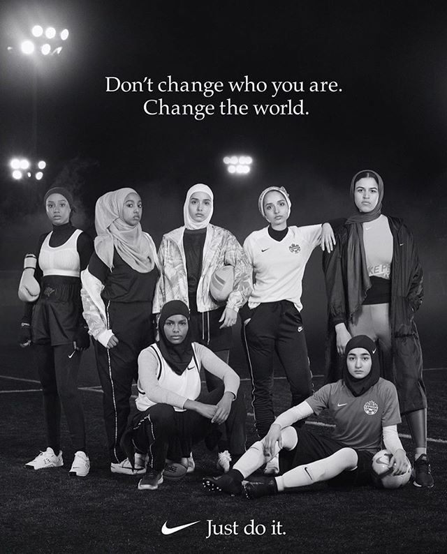 New work with @niketoronto @hijabiballers shot by @alexavachon styled by @zeinaesmail hair and makeup by me.