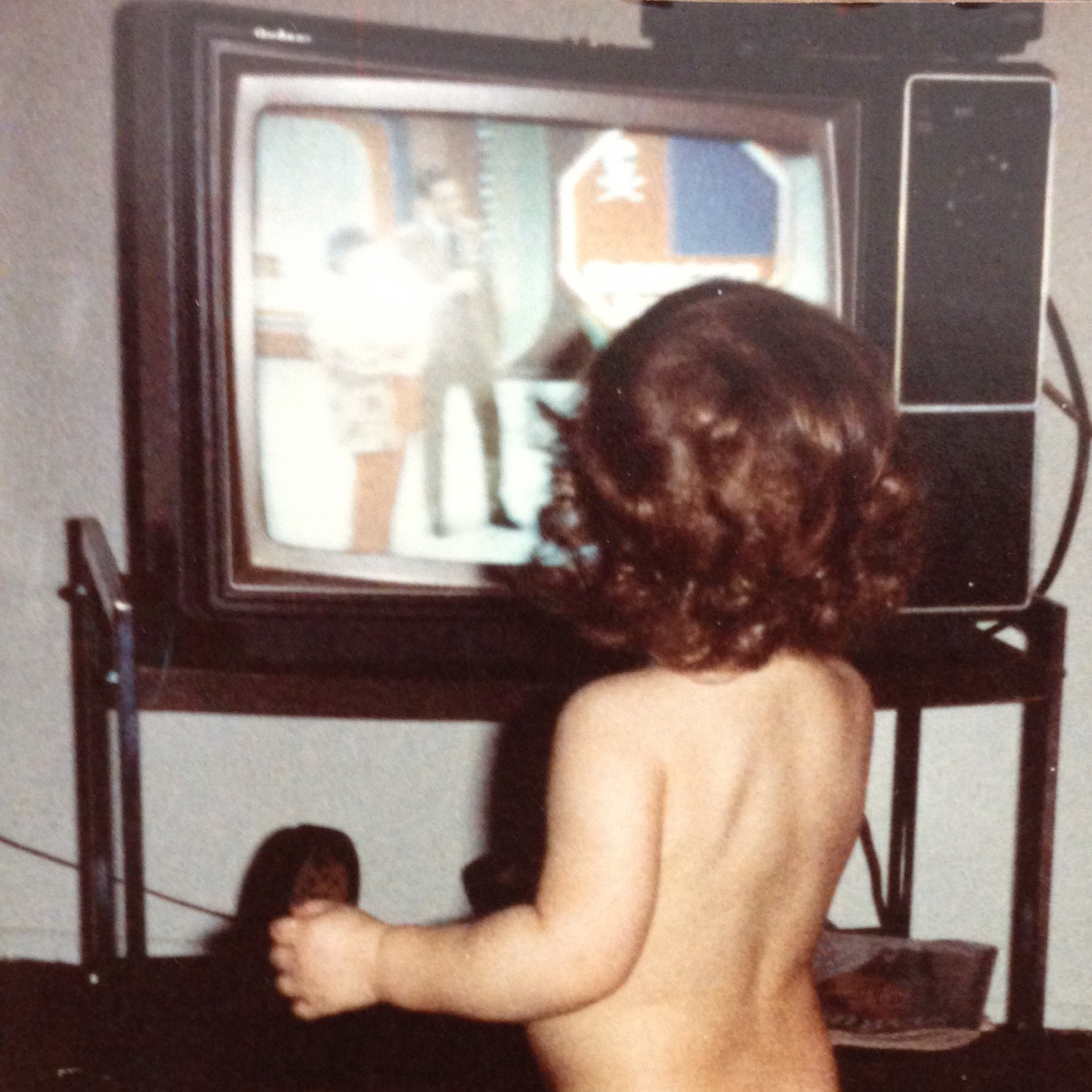 Even from an early age, I recognized game shows made the most compelling television! Here I am as a 2-year-old, captivated by Fremantle's The Price is Right.