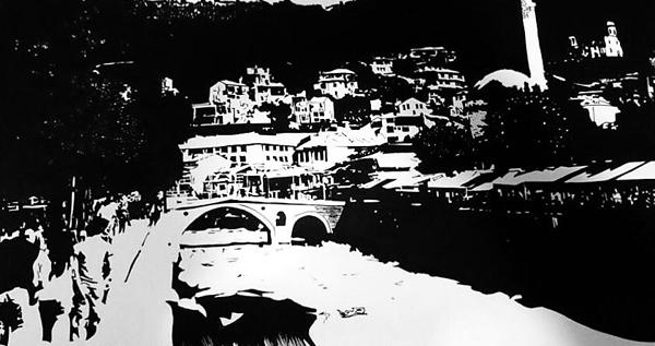 Prizren (2018) Acrylic on paper 70 €