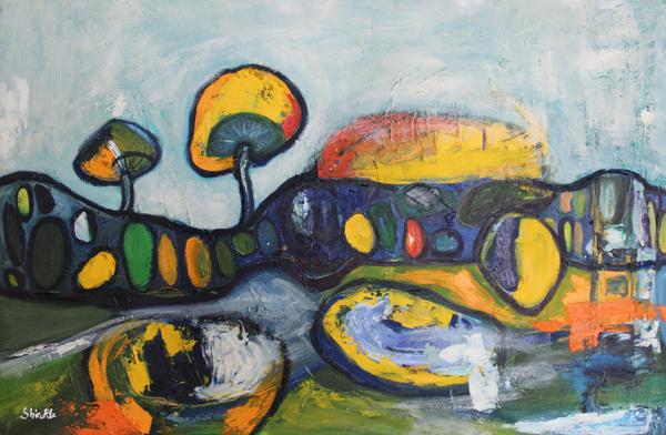 Parajsa Tokesore II (2018) Oil on Canvas 150 €