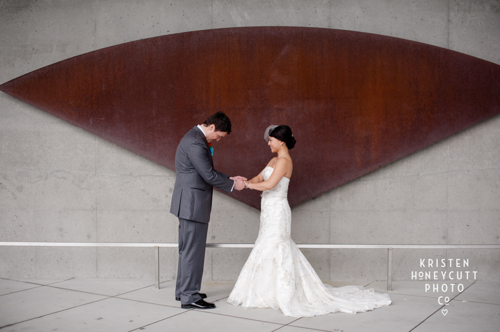 Wedding at the Seattle Aquarium coordinated by New Creations Wedding Design and Coordination   Kristen Honeycutt Photography   Seattle Aquarium Wedding Reception