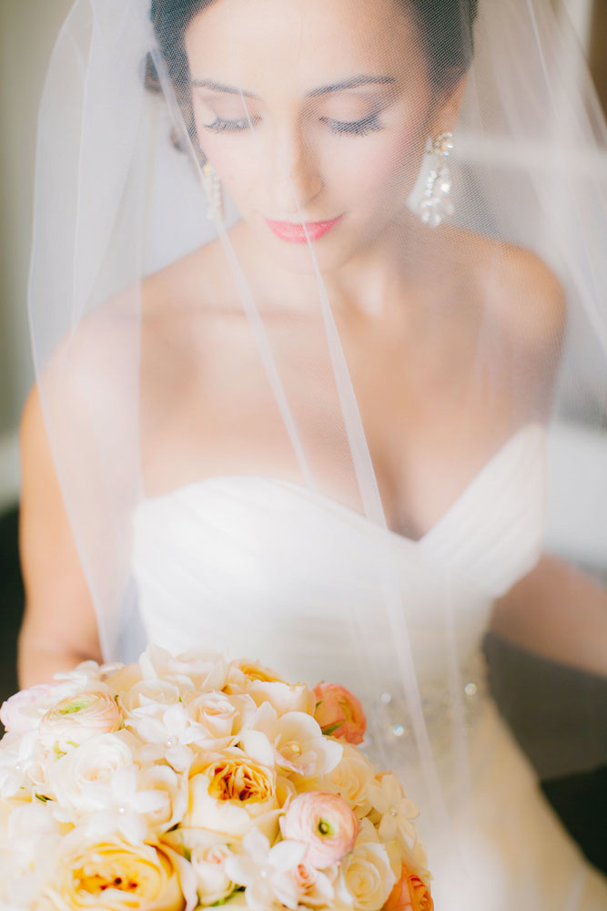 Peach Wedding Details at the Woodmark Hotel   Clane Gessel Photography   Seattle Wedding Venue   New Creations Wedding Design and Coordination