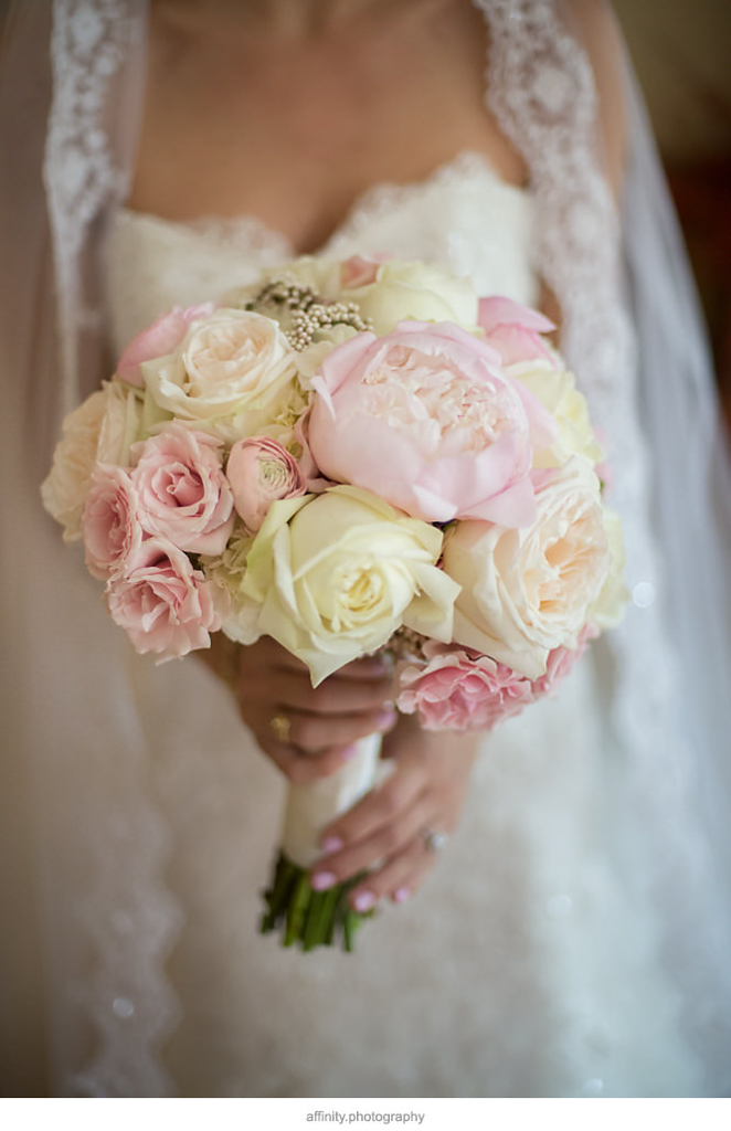 Blush and Ivory Bouquet | New Creations Design and Wedding Coordination