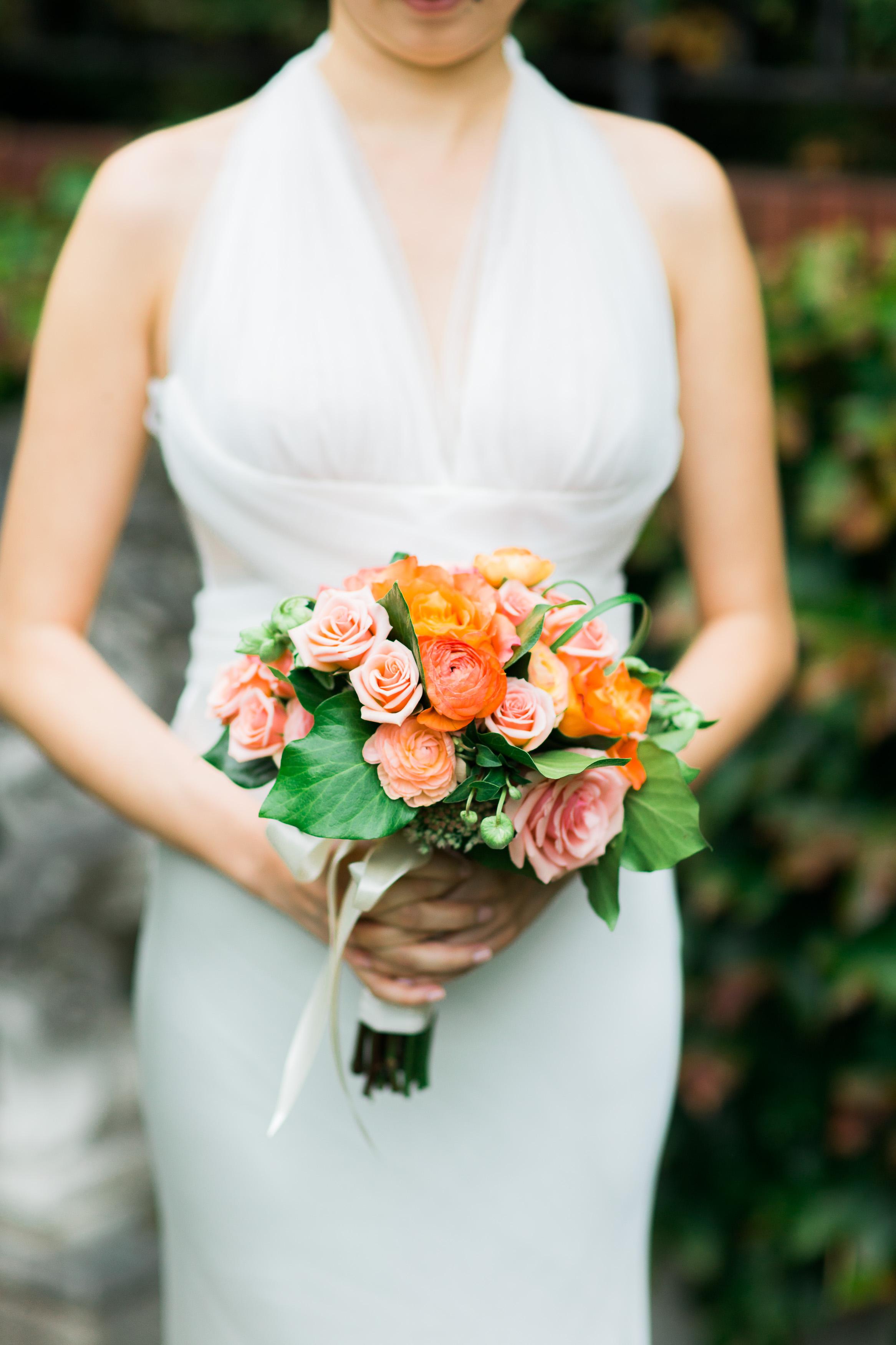 Pink and Peach Wedding Bouquet   Parsons Gardens Wedding   Asgari Photography   Chinese Wedding Planner   Seattle Wedding Planner