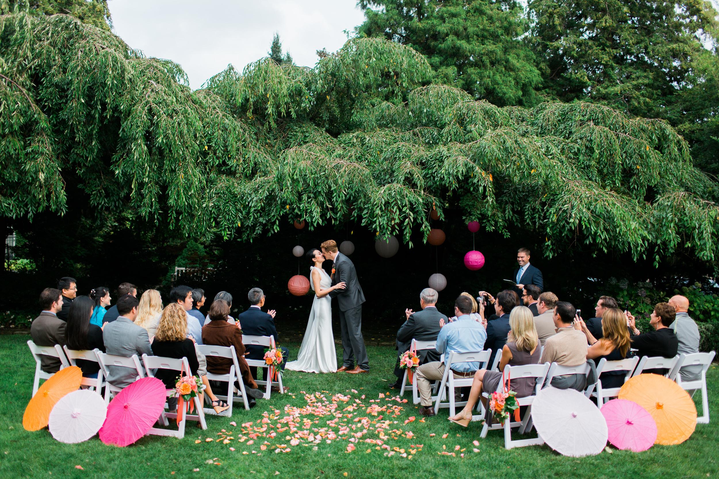 Parsons Gardens Wedding Ceremony   Pink and Peach Wedding   Asgari Photography   Seattle Wedding Planner   Chinese Wedding Planner