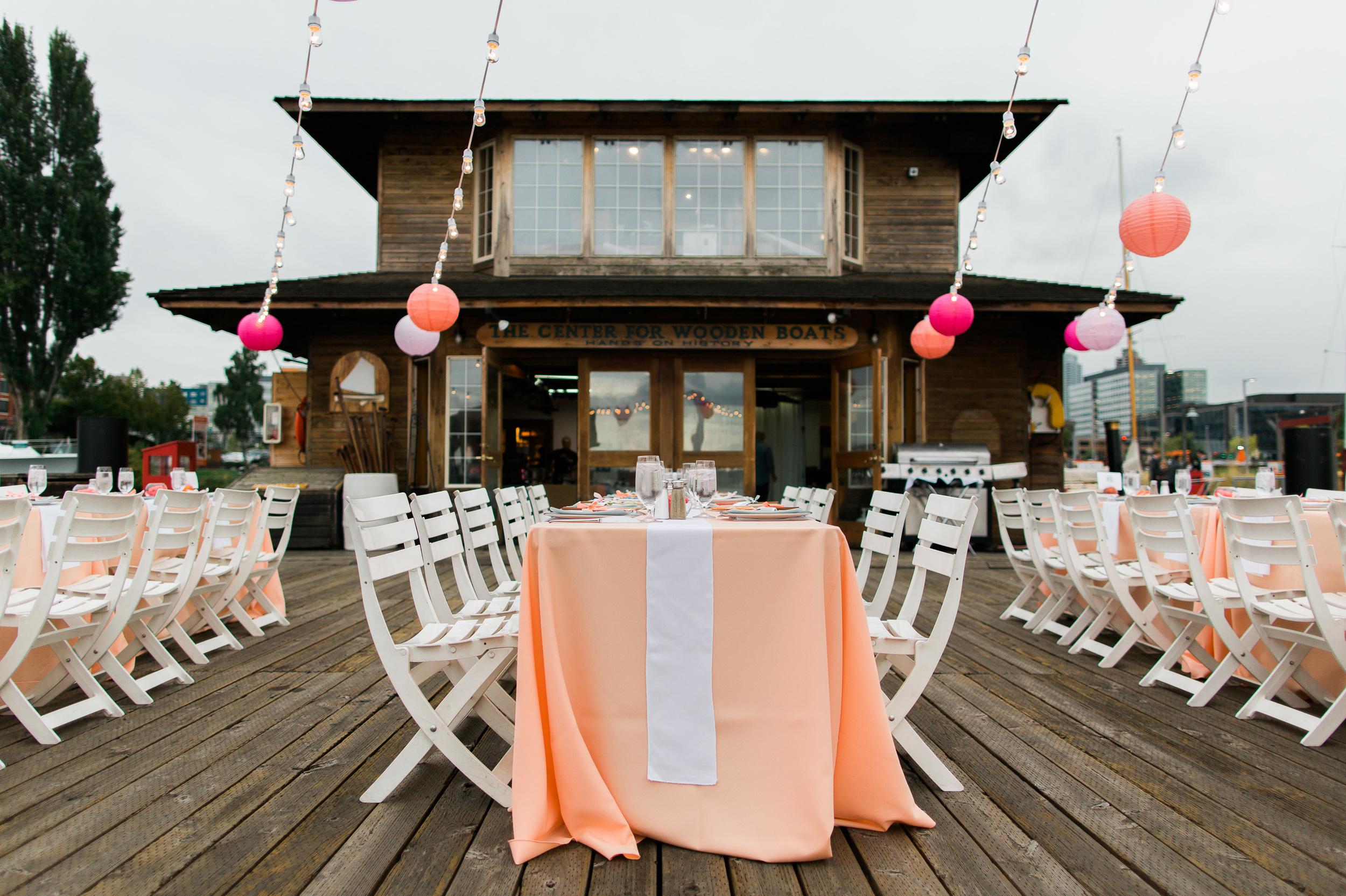 Center for Wooden Boats Wedding   Peach Wedding   Asgari Photography   Seattle Wedding Planner   Chinese Wedding Planner