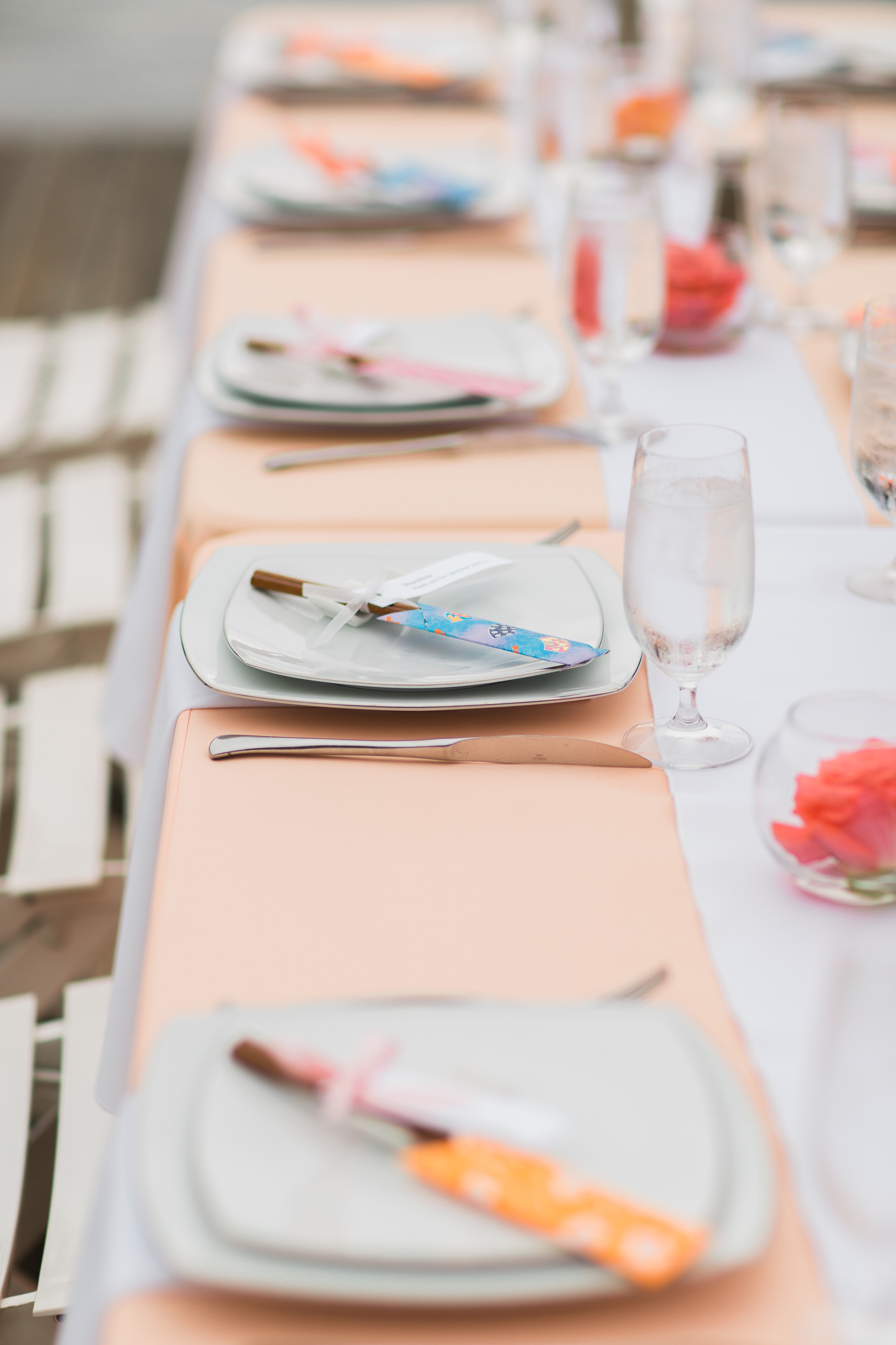 Chopstick Wedding Favors   Peach Wedding   Center for Wooden Boats   Asgari Photography   Seattle Wedding Planner   Chinese Wedding Planner