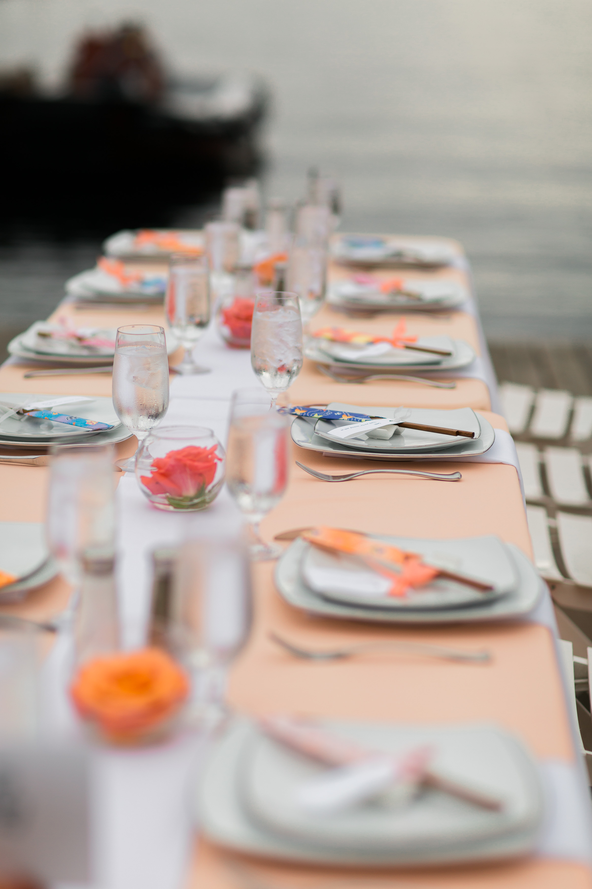 Peach and Pink Wedding   Chopstick Wedding Favors   Center for Wooden Boats   Asgari Photography   Seattle Wedding Planner   Chinese Wedding Planner