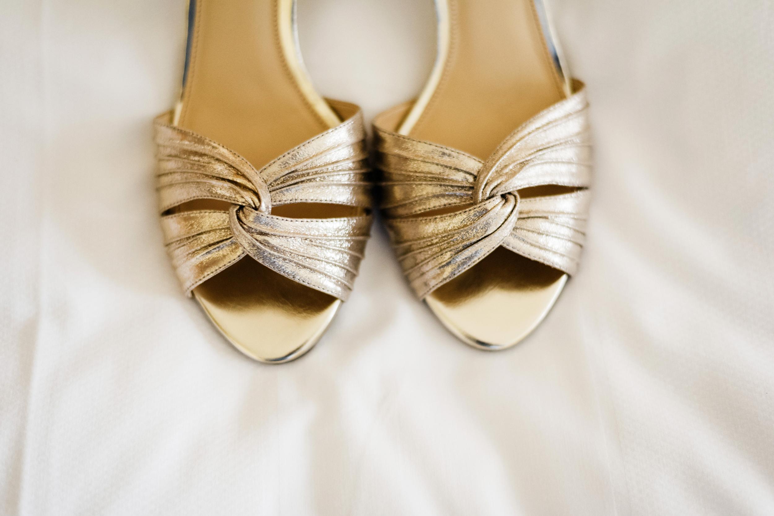Gold Wedding Shoes | Joe and Patience Photography | Filipino Wedding Planner | Seattle Wedding Planner | Ballard Bay Club Wedding