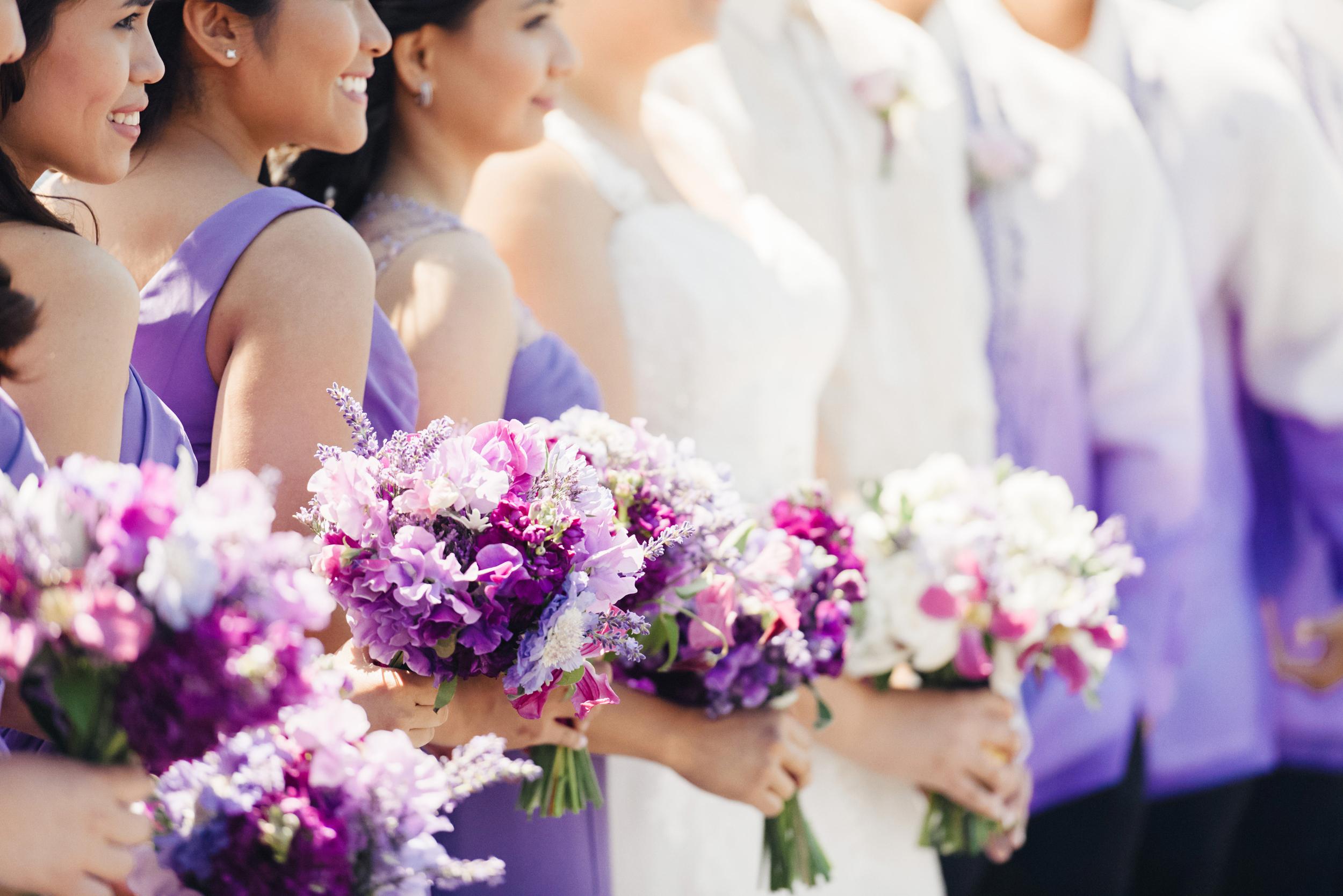 Purple Wedding Bouquets | Joe and Patience Photography | Filipino Wedding Planner | Seattle Wedding Planner | Ballard Bay Club Wedding