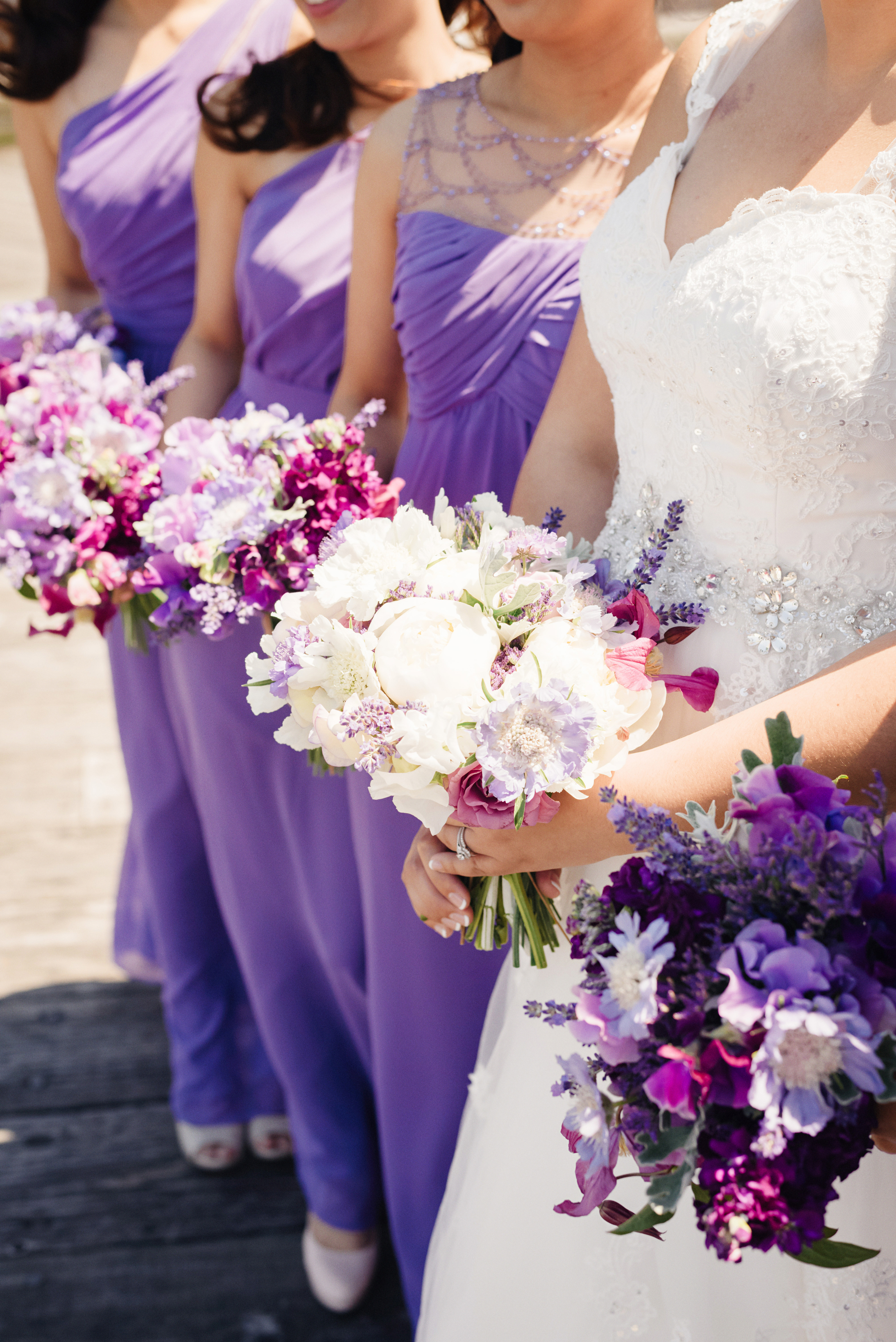 Purple and White Wedding Bouquet | Joe and Patience Photography | Filipino Wedding Planner | Seattle Wedding Planner | Ballard Bay Club Wedding