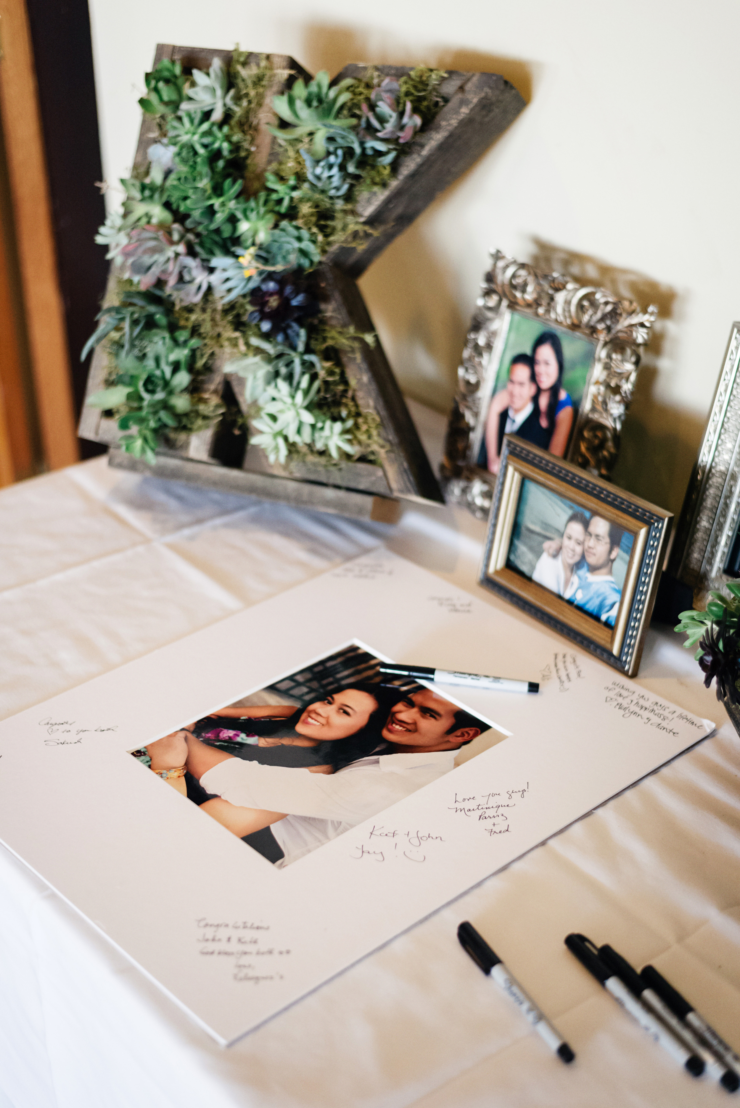 Succulent Monogram | Wedding Succulents | Joe and Patience Photography | Filipino Wedding Planner | Seattle Wedding Planner | Ballard Bay Club Wedding