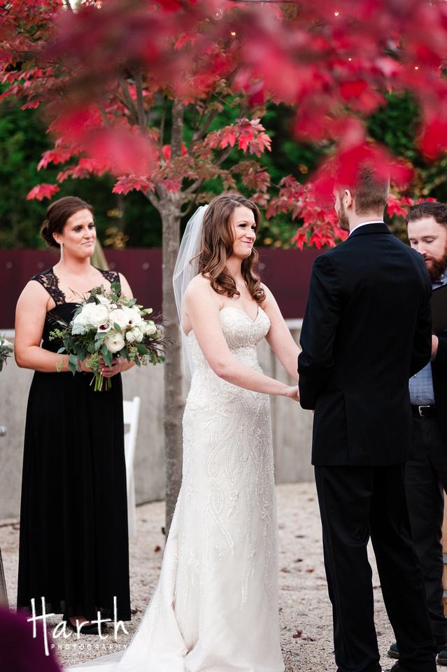 Fall Wedding at Novelty Hill Januik Winery