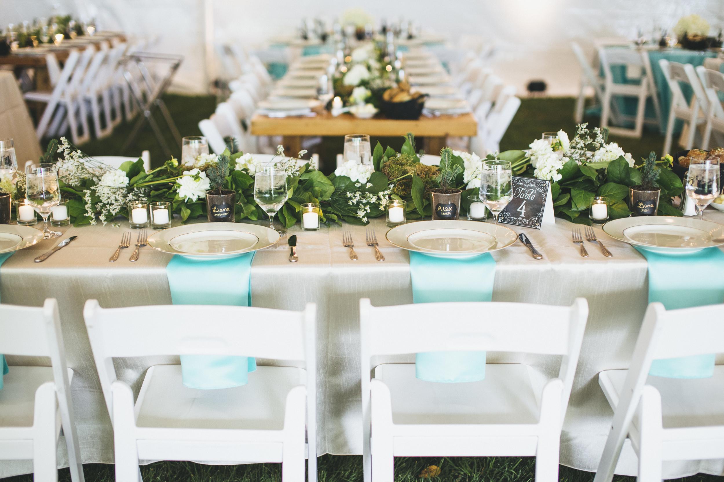 Northwest Teal and Green Wedding