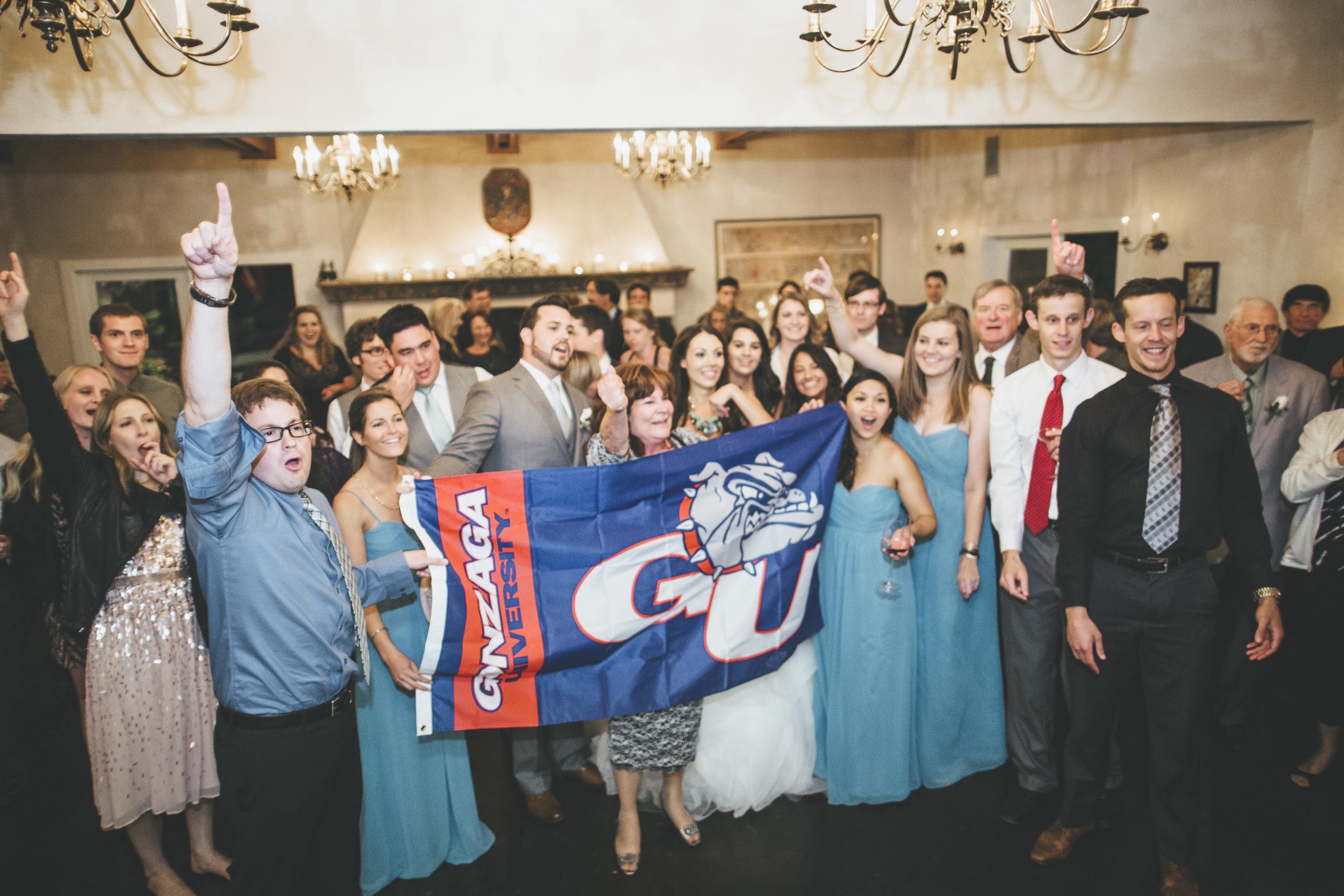 Gonzaga Wedding Flag Idea