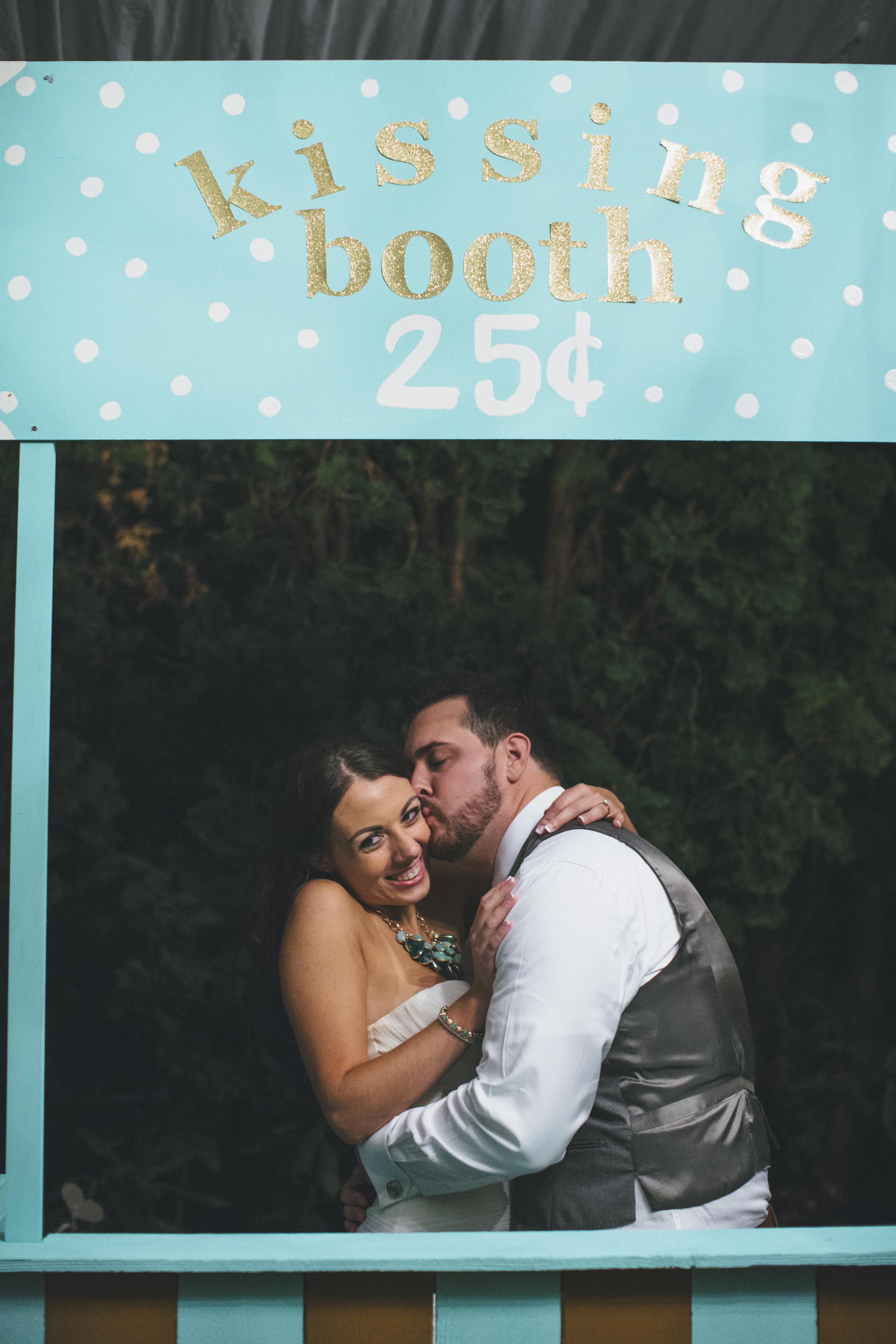 Teal Wedding Kissing Booth Idea