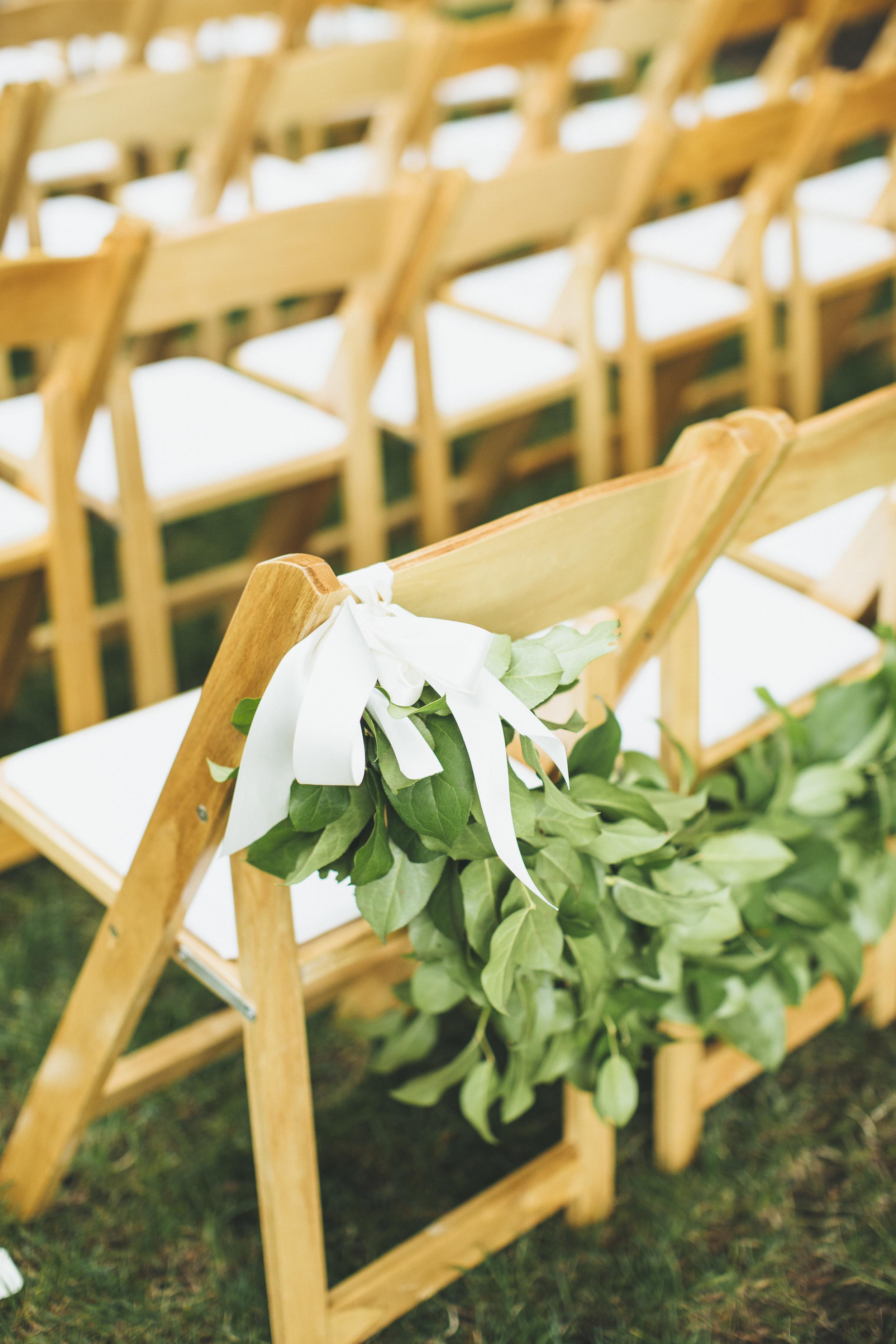 Wedding Aisle Chair Garland