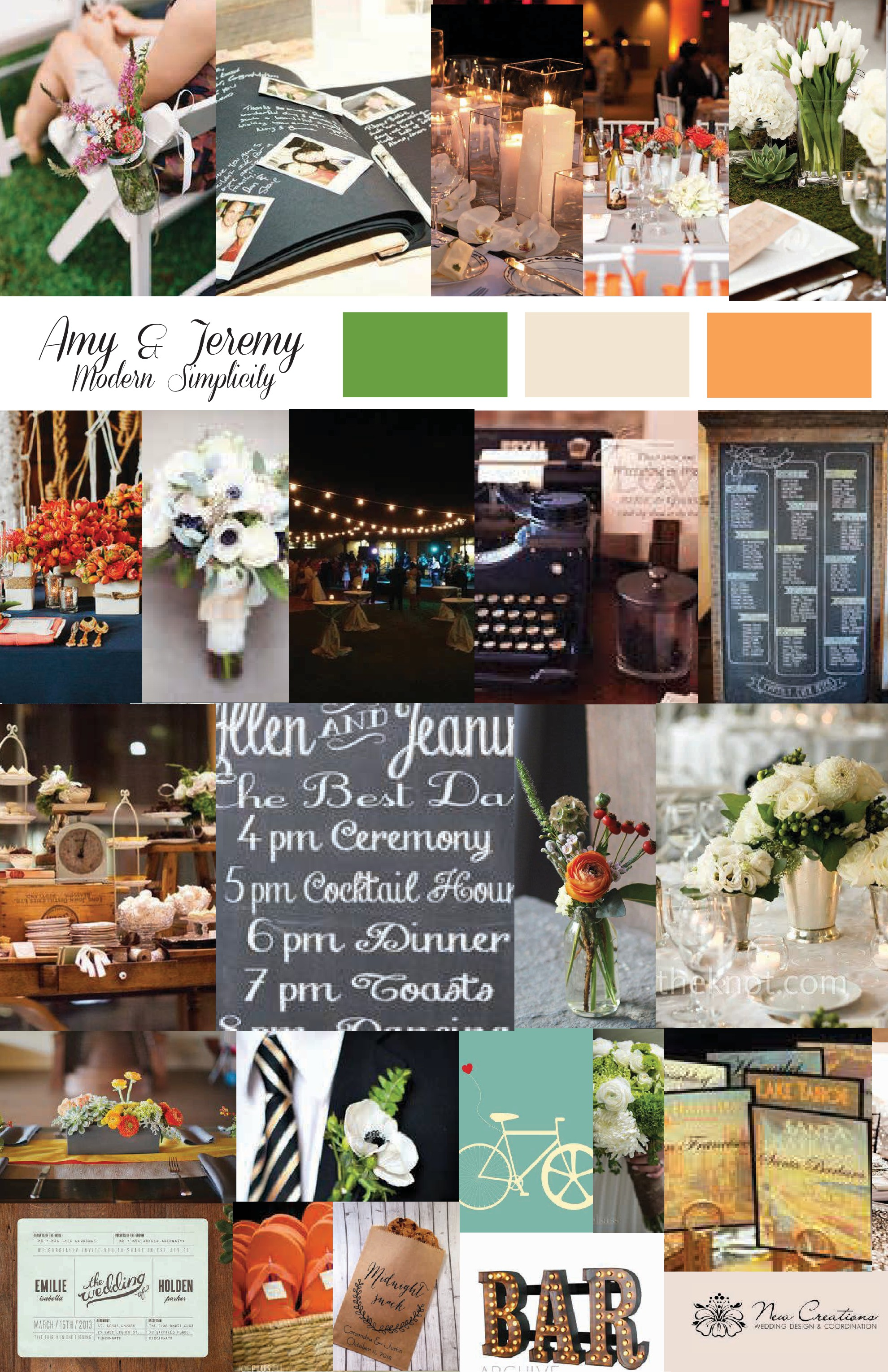Inspiration board created by New Creations Weddings